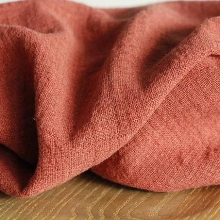 gaze de coton éole - terracotta