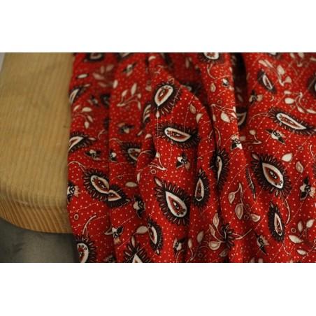 viscose imprimée louna rouge
