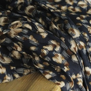 viscose imprimée nina - marine