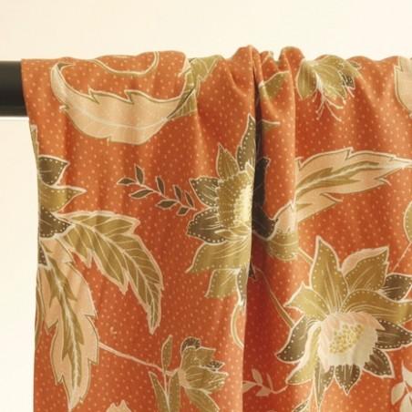 tissu fleurs passereau - edwige