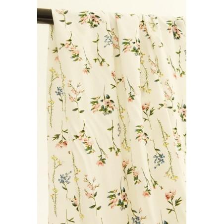viscose imprimé fleurs patricia - blanc