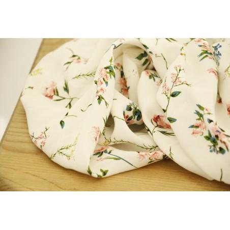 viscose à fleurs blanche - patricia