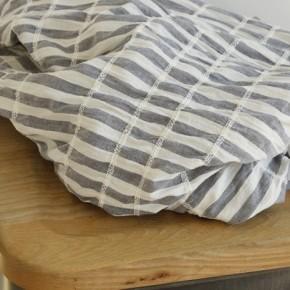 tissu rayures gris et blanc smocké