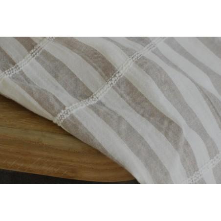 tissu coton rayures smocké