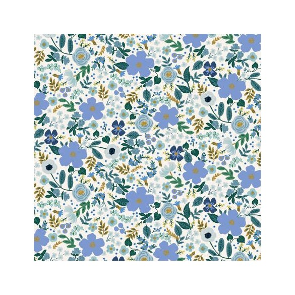 coton rifle paper co - wild rose blue metallic