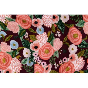 coton canvas juliet rose burgundy - rifle paper co