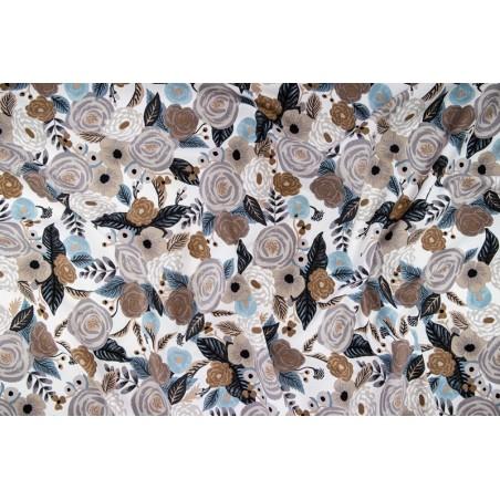 coton fleurs linen multi - rifle paper co