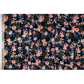 canvas rosa black unbleached - rifle paper co