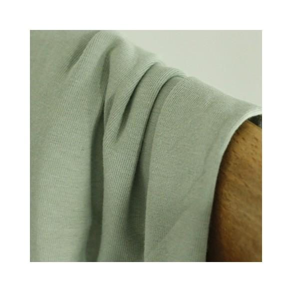 tissu jersey coton bio - vert de gris