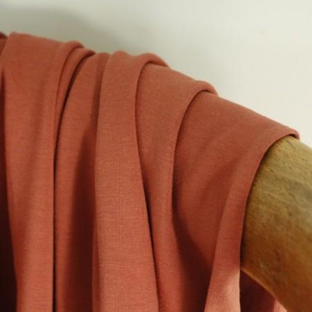 Jersey coton bio - terracotta