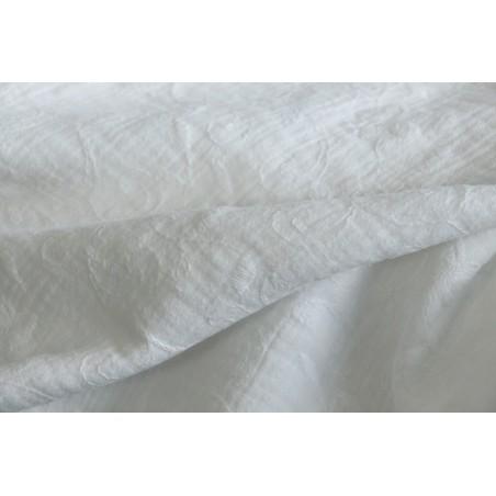 tissu double gaze jasmin blanc