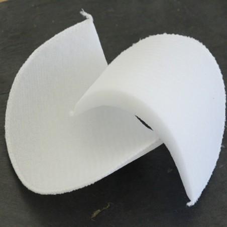 épaulette recouverte blanche 1 cm