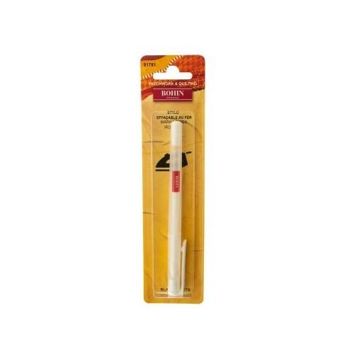 stylo bohin effaçable au fer - blanc