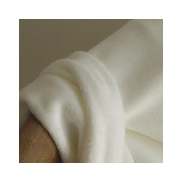 Molleton blanc cassé envers douillette