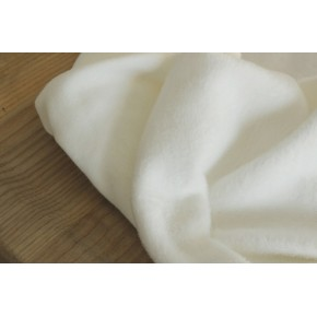 tissu molleton blanc cassé
