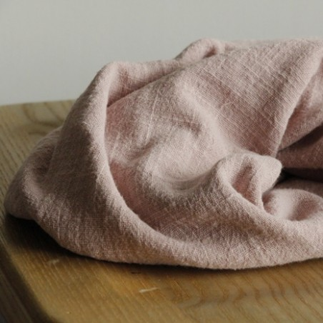 Gaze de coton Eole - vieux rose