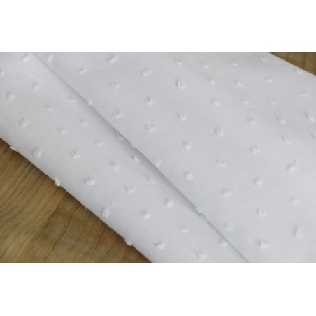 tissu plumetis blanc
