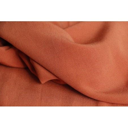 tissu crêpe terracotta