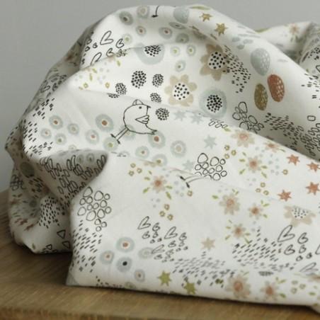 coton imprimé birdies