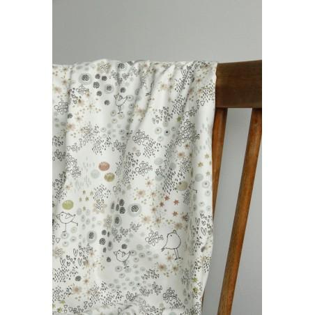 tissu coton imprimé oiseaux