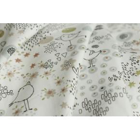 coton imprimé oiseaux