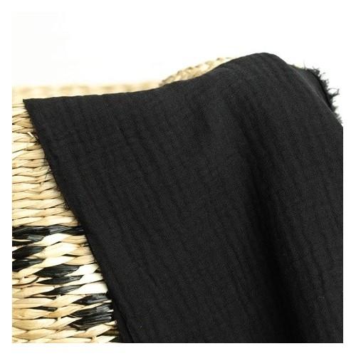 tissu double gaze bio noir