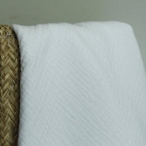 Double gaze en coton bio - blanc