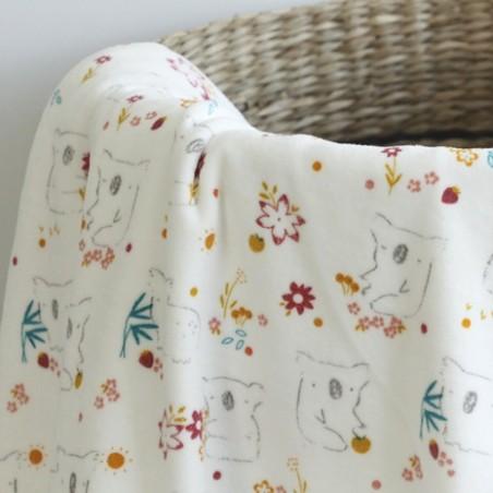 Velours pyjama - Koala blanc