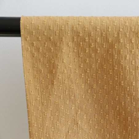 Coton crépon Plumetis liège