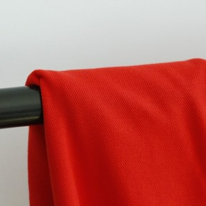 Tissu jersey polo - maille piquée rouge