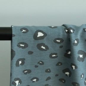 Tissu sweat fin coton bio - panther blue