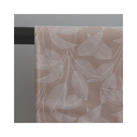 Tissu sweat molleton en coton bio - leaves pink