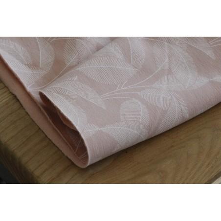 molleton feuilles coton bio rose