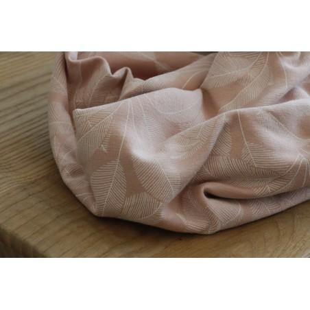 tissu sweat leaves pink
