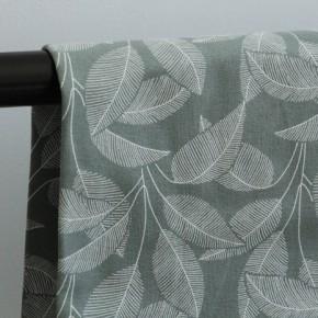 Tissu sweat molleton en coton bio - leaves green