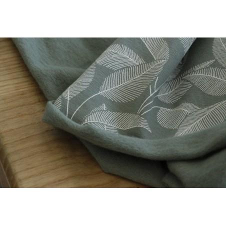 sweat molleton en coton bio - leaves green