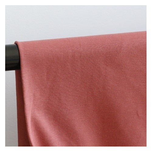 Tissu sweat fin bio - Terracotta