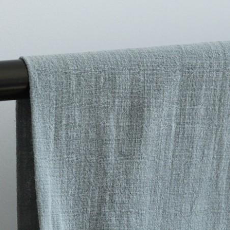 Gaze de coton Eole - vert de gris