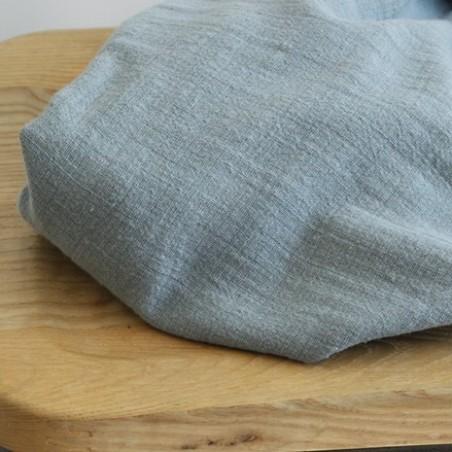 tissu gaze de coton éole - vert de gris