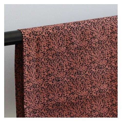 Tissu Viscose imprimée terracotta - Annie