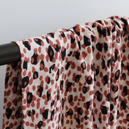 viscose imprimée léopard - nude