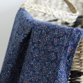 Popeline stretch de coton - Dark blue