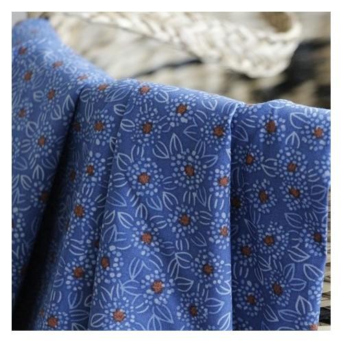 Popeline stretch de coton - light blue