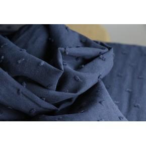 tissu coton plumetis marine