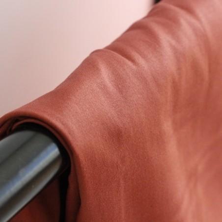 satin de coton stretch - terracotta