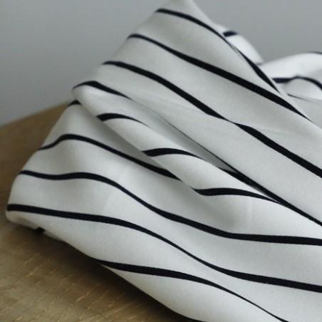 tissu coton rayures