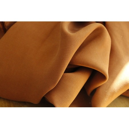 tissu en tencel au mètre - caramel