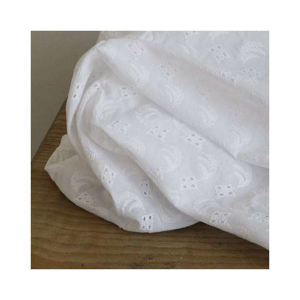 Broderie anglaise Berthe - Blanc