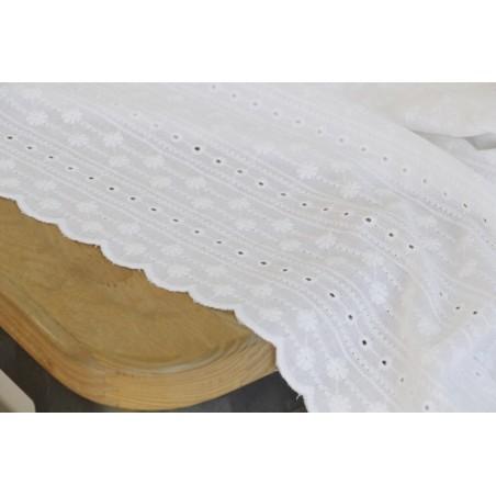 coton brodé constance - blanc