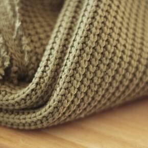tissu tricot au mètre - kaki